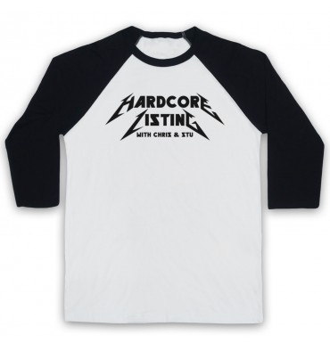 Hardcore Listing with Chris & Stu Metallica Inspired Logo Baseball Tee