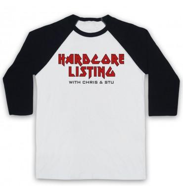 Hardcore Listing with Chris & Stu Iron Maiden Inspired Logo Baseball Tee