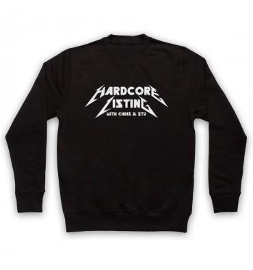 Hardcore Listing with Chris & Stu Metallica Inspired Logo Sweatshirt