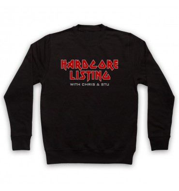 Hardcore Listing with Chris & Stu Iron Maiden Inspired Logo Sweatshirt