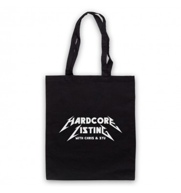 Hardcore Listing with Chris & Stu Metallica Inspired Logo Tote Bag