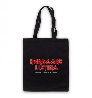 Hardcore Listing with Chris & Stu Iron Maiden Inspired Logo Tote Bag