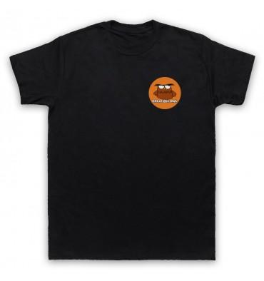 Great Big Owl Orange Circle Left Chest Logo T-Shirt