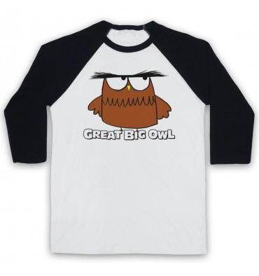 Great Big Owl Logo Baseball Tee