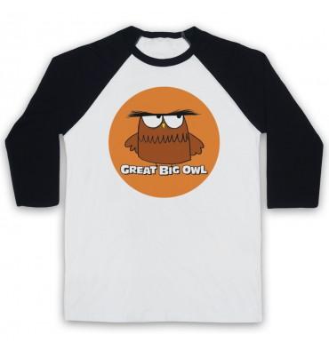 Great Big Owl Orange Circle Logo Baseball Tee