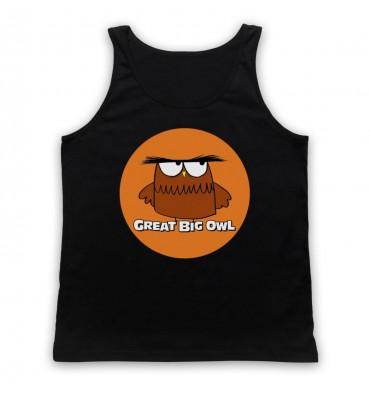 Great Big Owl Orange Circle Logo Tank Top Vest