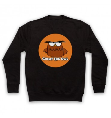 Great Big Owl Orange Circle Logo Sweatshirt