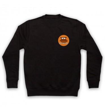 Great Big Owl Orange Circle Left Chest Logo Sweatshirt