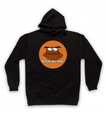 Great Big Owl Orange Circle Logo Hoodie