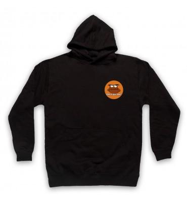Great Big Owl Orange Circle Left Chest Logo Hoodie