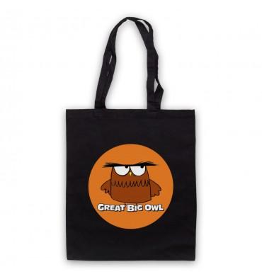 Great Big Owl Orange Circle Logo Tote Bag