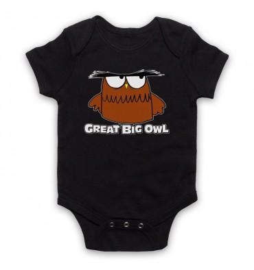 Great Big Owl Logo Baby Grow Bib