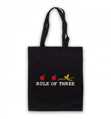 Rule Of Three Horizontal Logo Tote Bag