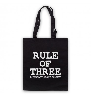 Rule Of Three A Podcast About Comedy Tote Bag