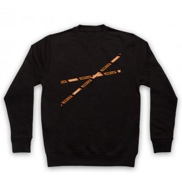 Crime Club Crime Tape Large Logo Sweatshirt
