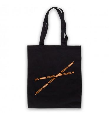 Crime Club Crime Tape Large Logo Tote Bag