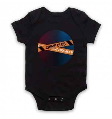 Crime Club Circle Large Logo Baby Grow Bib