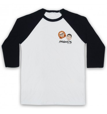 Friends With Friends Left Chest Logo Baseball Tee