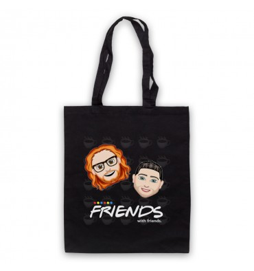 Friends With Friends Large Coffee Logo Tote Bag