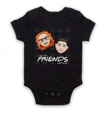 Friends With Friends Large Coffee Logo Baby Grow Bib