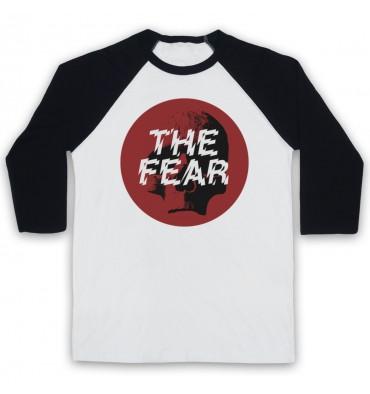 The Fear Red Circle Large Logo Baseball Tee