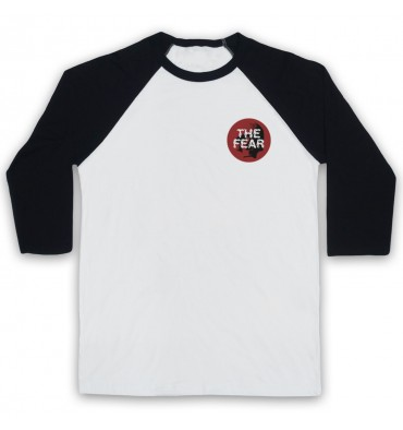 The Fear Red Circle Left Chest Logo Baseball Tee