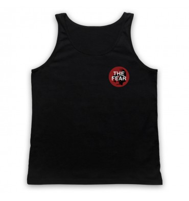 The Fear Red Circle Left Chest Logo Tank Top Vest