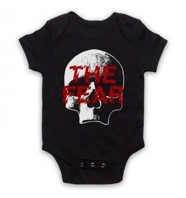 The Fear Skull Large Logo Baby Grow Bib