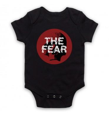 The Fear Red Circle Large Logo Baby Grow Bib