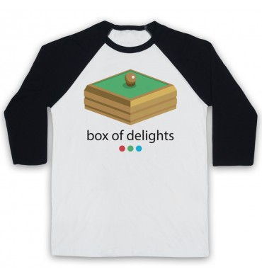 Box Of Delights Logo Baseball Tee