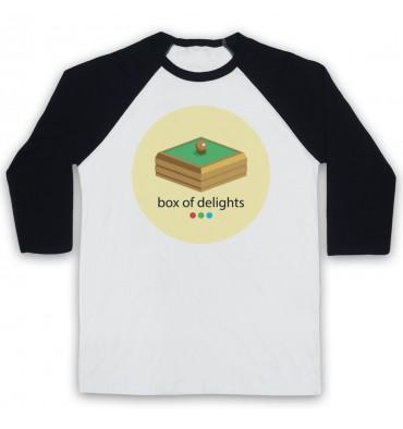 Box Of Delights Circle Large Logo Baseball Tee