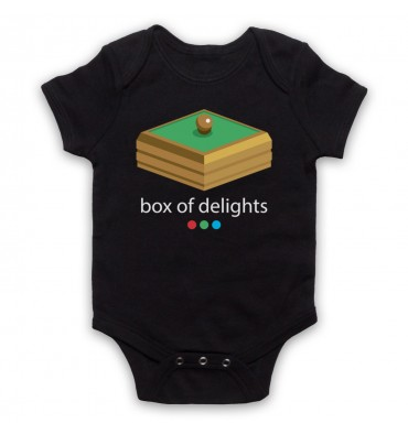 Box Of Delights Logo Baby Grow Bib