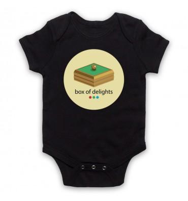 Box Of Delights Circle Large Logo Baby Grow Bib