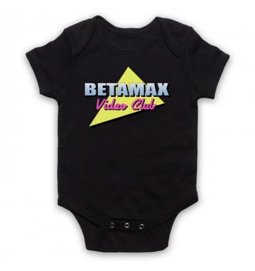 Betamax Video Club Logo Baby Grow Bib