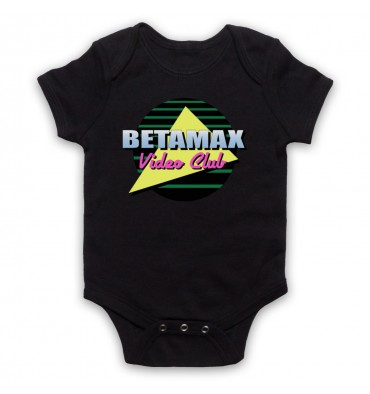 Betamax Video Club Circle Logo Baby Grow Bib
