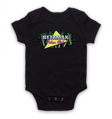 Betamax Video Club Spotlight Logo Baby Grow Bib