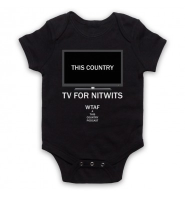 This Country TV For Nitwits Baby Grow Bib