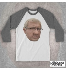 Barry From Watford Large Face Baseball Tee