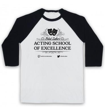 Bilal Zafar's Acting School Of Excellence Baseball Tee