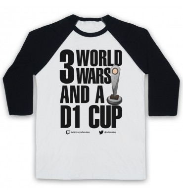 PES United 3 World Wars And A D1 Cup Baseball Tee