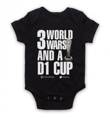 PES United 3 World Wars And A D1 Cup Baby Grow Bib