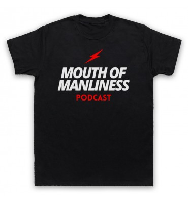 Mouth Of Manliness Text Logo T-Shirt