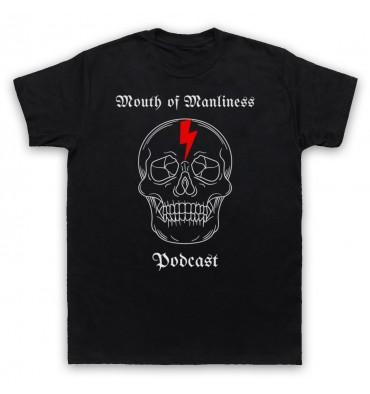 Mouth Of Manliness Skull Logo T-Shirt