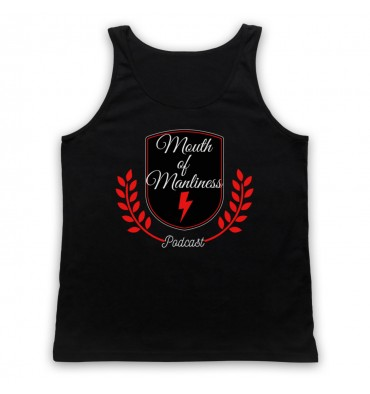 Mouth Of Manliness Crest Logo Tank Top Vest