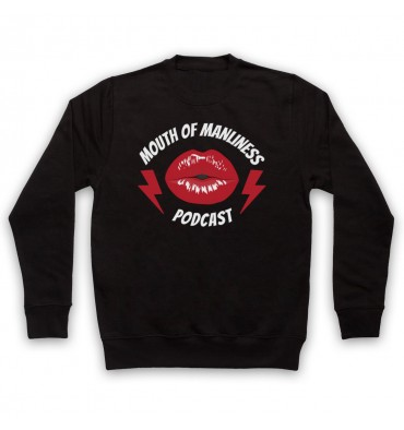 Mouth Of Manliness Lips Logo Sweatshirt