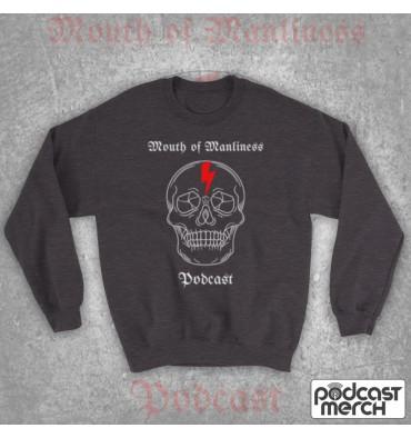 Mouth Of Manliness Skull Logo Sweatshirt
