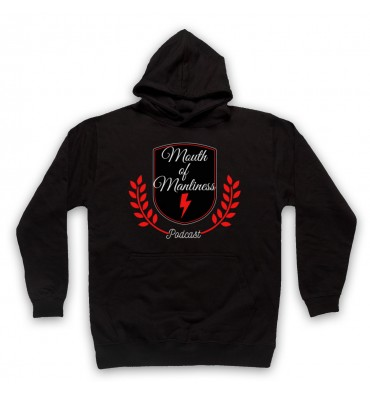 Mouth Of Manliness Crest Logo Hoodie