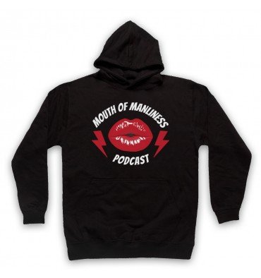 Mouth Of Manliness Lips Logo Hoodie