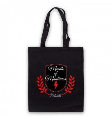 Mouth Of Manliness Crest Logo Tote Bag