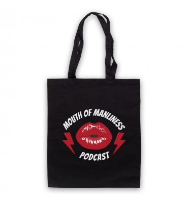 Mouth Of Manliness Lips Logo Tote Bag